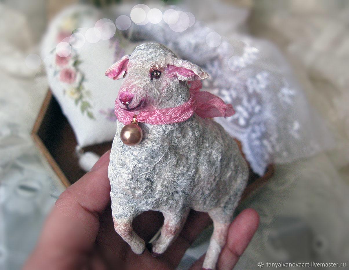 Овечка пасхальная, ватная игрушка, Пасхальные сувениры, Тюмень,  Фото №1