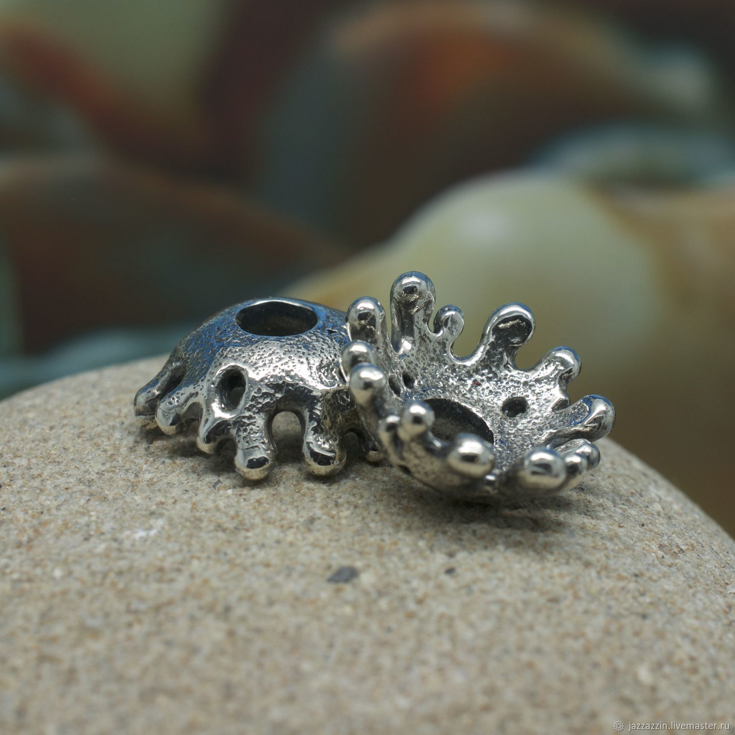 All for Jewelry Making handmade. Livemaster - handmade. Buy Splash spacers beads.Charm, sterling silver