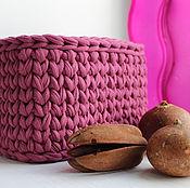 Для дома и интерьера ручной работы. Ярмарка Мастеров - ручная работа Вязаная корзина. Handmade.