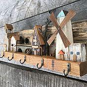 Для дома и интерьера handmade. Livemaster - original item Key holders wall: mill. Handmade.