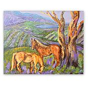 Картины и панно handmade. Livemaster - original item Painting Landscape with Horses