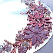 Для дома и интерьера ручной работы. Ярмарка Мастеров - ручная работа Зеркало, декор из стекла, фьюзинг В розовых снах. Handmade.