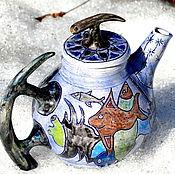 """Посуда ручной работы. Ярмарка Мастеров - ручная работа Чайник """" Глубинные рыбы"""". Handmade."""