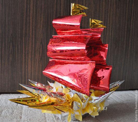 """Персональные подарки ручной работы. Ярмарка Мастеров - ручная работа. Купить Букет из конфет """"Романтика"""". Handmade. Букет из конфет"""