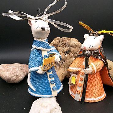 Сувениры и подарки ручной работы. Ярмарка Мастеров - ручная работа Колокольчик - мышь(крыса) символ года 2020. Handmade.