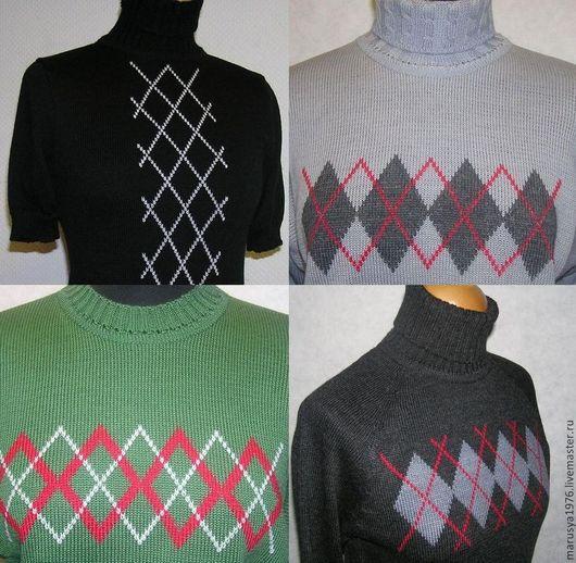 Кофты и свитера ручной работы. Ярмарка Мастеров - ручная работа. Купить Джемпер с ромбами. Handmade. Разноцветный, женская одежда
