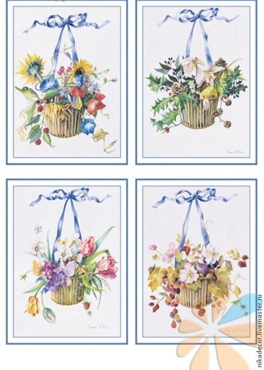 EXC 182, кашпо/цветы/голубой бантик