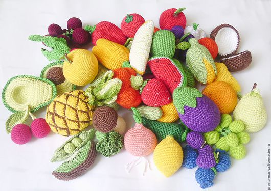 """Развивающие игрушки ручной работы. Ярмарка Мастеров - ручная работа. Купить Счетный набор""""Овоши и фрукты"""".. Handmade. Комбинированный, игрушки в подарок"""