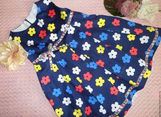 """Одежда для девочек, ручной работы. Ярмарка Мастеров - ручная работа. Купить Платье для малышки """"Умница"""". Handmade. Тёмно-синий, кружево"""