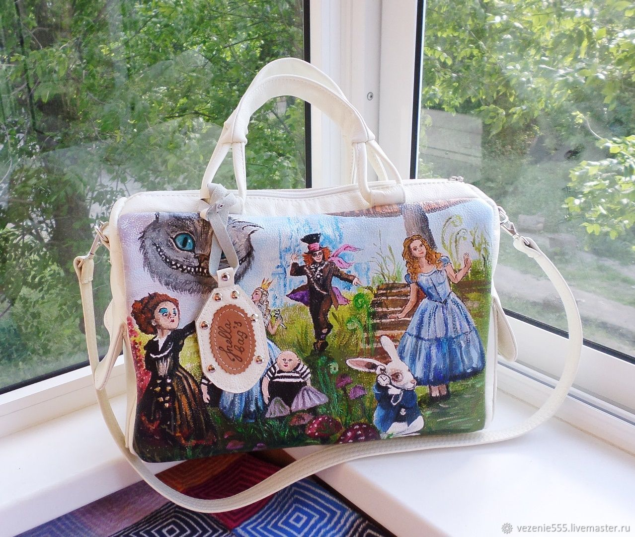 Women's leather bag with custom painting for Maria, Classic Bag, Noginsk,  Фото №1