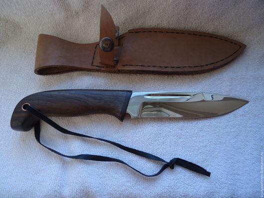 """Подарки для мужчин, ручной работы. Ярмарка Мастеров - ручная работа. Купить Нож """"Турист"""". Handmade. Коричневый, кожаные ножны, кожа"""