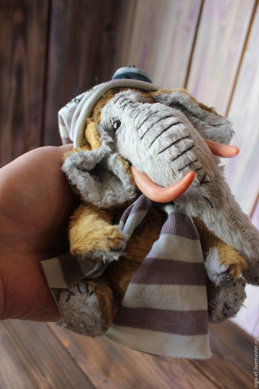 Мишки Тедди ручной работы. Ярмарка Мастеров - ручная работа. Купить Мамонтенок Тобби. Handmade. Друзья тедди, мамонтенок, мишка