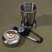 Сувениры и подарки handmade. Livemaster - original item Glass with symbols of the USSR