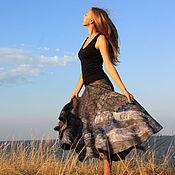 """Одежда ручной работы. Ярмарка Мастеров - ручная работа Юбка теплая валяная """"Морской бриз"""". Handmade."""