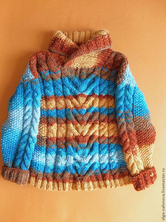 """Одежда для мальчиков, ручной работы. Ярмарка Мастеров - ручная работа. Купить Свитер """"Осенний"""". Handmade. Детский свитер, кофта спицами"""