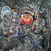 Картины и панно ручной работы. Ярмарка Мастеров - ручная работа Картина Аленький цветочек. Handmade.