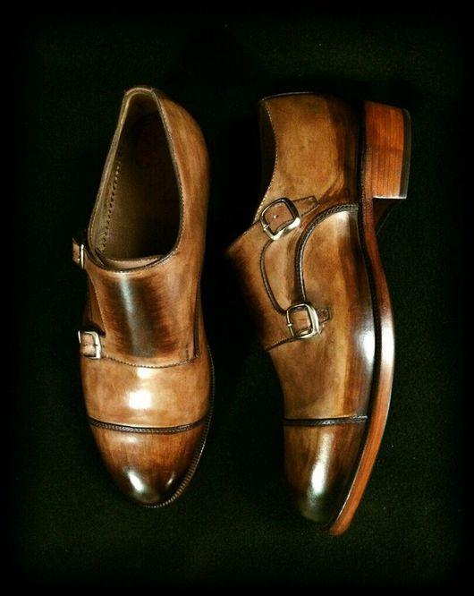 Обувь ручной работы. Ярмарка Мастеров - ручная работа. Купить Туфли конструкция монки. Handmade. Туфли, классический стиль