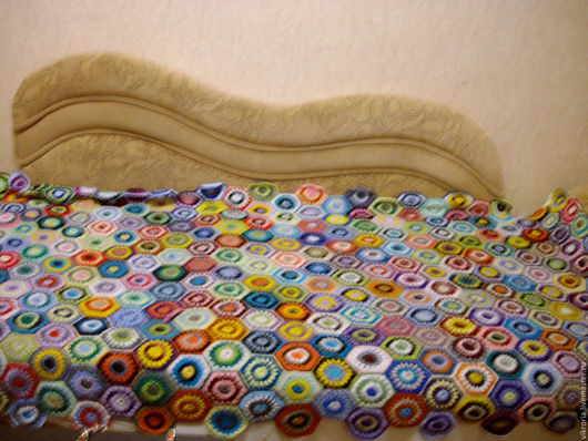 """Текстиль, ковры ручной работы. Ярмарка Мастеров - ручная работа. Купить Плед """" радуга"""". Handmade. Комбинированный, покрывало на кровать"""