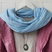 Аксессуары handmade. Livemaster - original item Cotton scarf-scarf of blue color. Handmade.