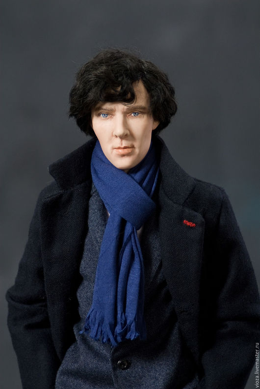 Портретные куклы ручной работы. Ярмарка Мастеров - ручная работа. Купить Шерлок 2. Handmade. Черный, шерлок, текстиль