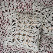 """Для дома и интерьера ручной работы. Ярмарка Мастеров - ручная работа подушки """"Цветы и геометрия"""". Handmade."""