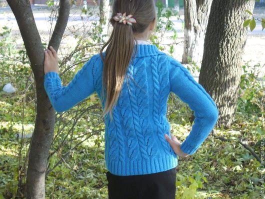 Одежда для девочек, ручной работы. Ярмарка Мастеров - ручная работа. Купить Детская кофта Голубое небо. Handmade. Бирюзовый