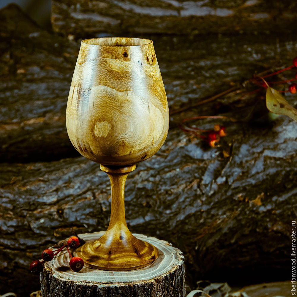 Деревянный бокал из дерева сибирский Вяз G2, Бокалы, Новокузнецк,  Фото №1