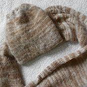 Аксессуары ручной работы. Ярмарка Мастеров - ручная работа шапочка, шарф-снуд из козьего пуха. Handmade.