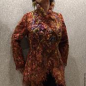 """Одежда ручной работы. Ярмарка Мастеров - ручная работа Куртка, полупальто """"Феерия цвета"""" валяная из шерсти и флиса. Handmade."""