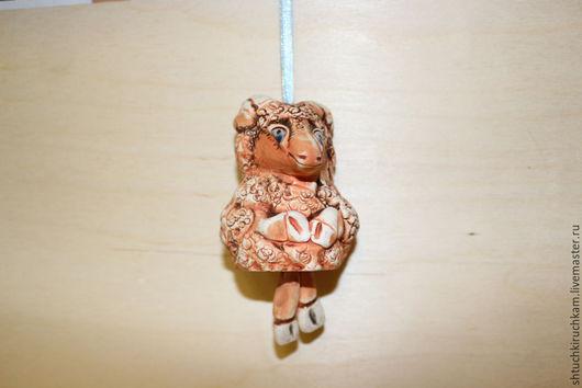 """Статуэтки ручной работы. Ярмарка Мастеров - ручная работа. Купить Керамический колокольчик """"Бараш"""". Handmade. Рыжий, Керамика, керамический колокольчик"""