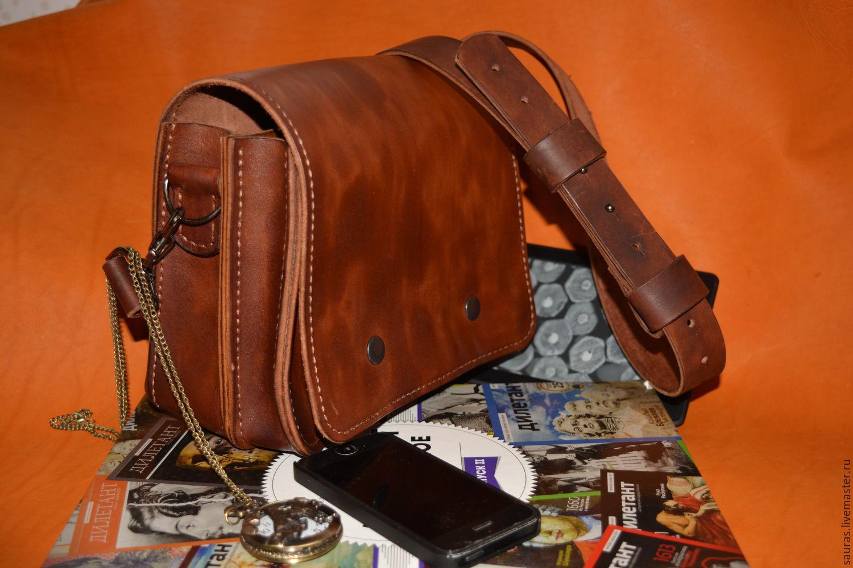 Мужская сумка из натуральной кожи видео 105