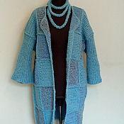 Одежда handmade. Livemaster - original item Coats turquoise