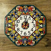 Для дома и интерьера handmade. Livemaster - original item clocks, decorative,ceramic,round 40cm.. Handmade.