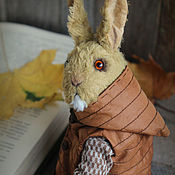 Stuffed Toys handmade. Livemaster - original item Mustard rabbit, brother rabbit Gray. Handmade.