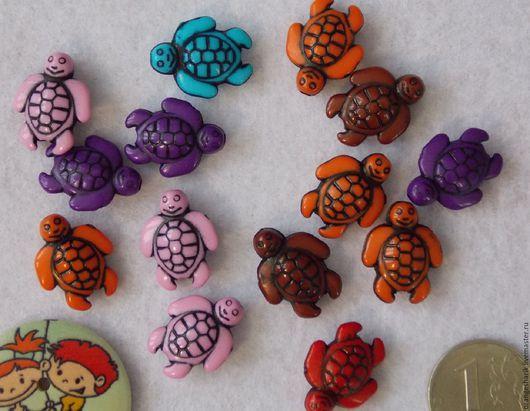 Куклы и игрушки ручной работы. Ярмарка Мастеров - ручная работа. Купить Бусины акриловые Морские черепахи. Handmade. Бусины