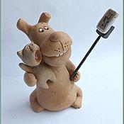 Для дома и интерьера handmade. Livemaster - original item Smile! Figurines of dogs . Ceramics. The year of the DOG.. Handmade.