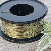 Материалы для творчества handmade. Livemaster - original item 0,6 mm brass wire. Handmade.