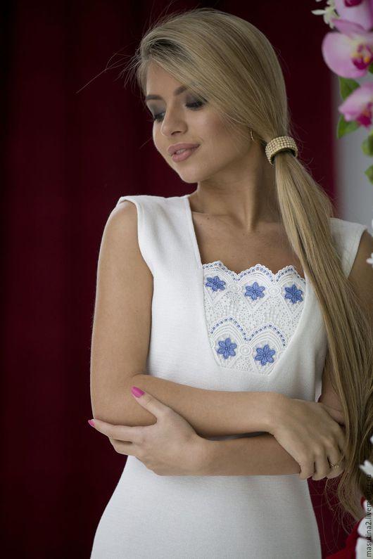 """Платья ручной работы. Ярмарка Мастеров - ручная работа. Купить Платье """"Perfect"""". Handmade. Белый, вязаное платье"""