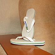 Винтаж handmade. Livemaster - original item Vintage shoes: Baby slates Havaianas Brazil Flip Flops size 31. Handmade.