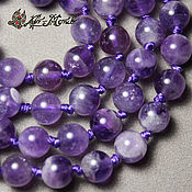 Материалы для творчества handmade. Livemaster - original item Amethyst premium grade, smooth beads 6 mm (natural stone). Handmade.
