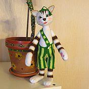 Куклы и игрушки ручной работы. Ярмарка Мастеров - ручная работа Котенок Финдус, герой сказок Свена Нурдквиста. Handmade.