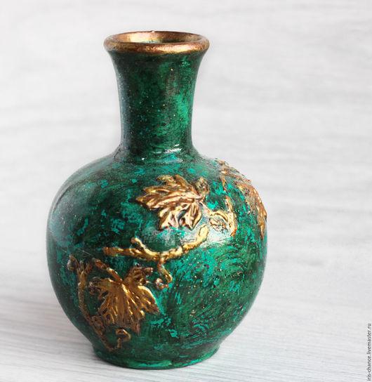 Вазы ручной работы. Ярмарка Мастеров - ручная работа. Купить Ваза Малахит. Для сухоцветов, зеленая, керамическая, для цветов.. Handmade.