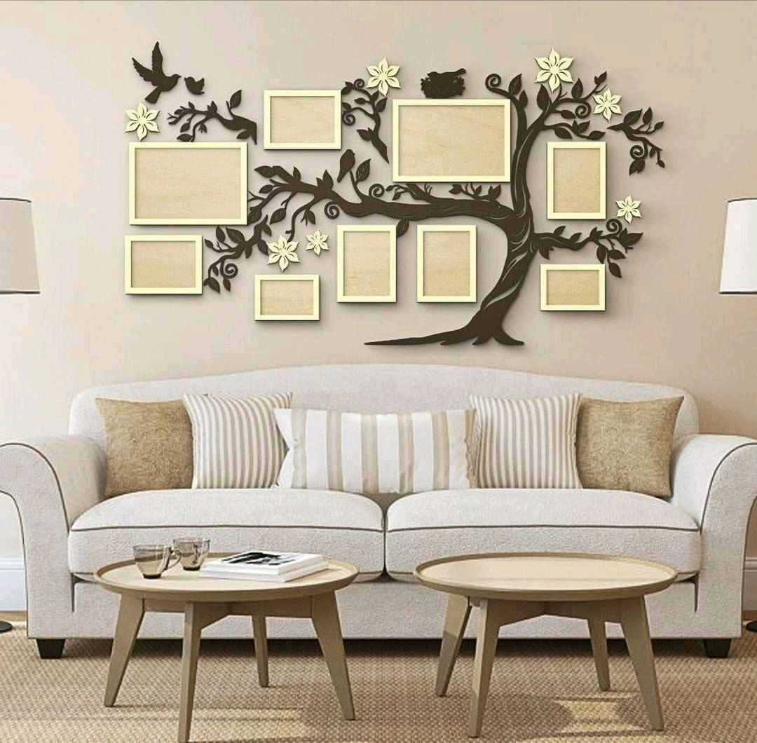 Семейное дерево с фоторамками, Элементы интерьера, Уфа,  Фото №1