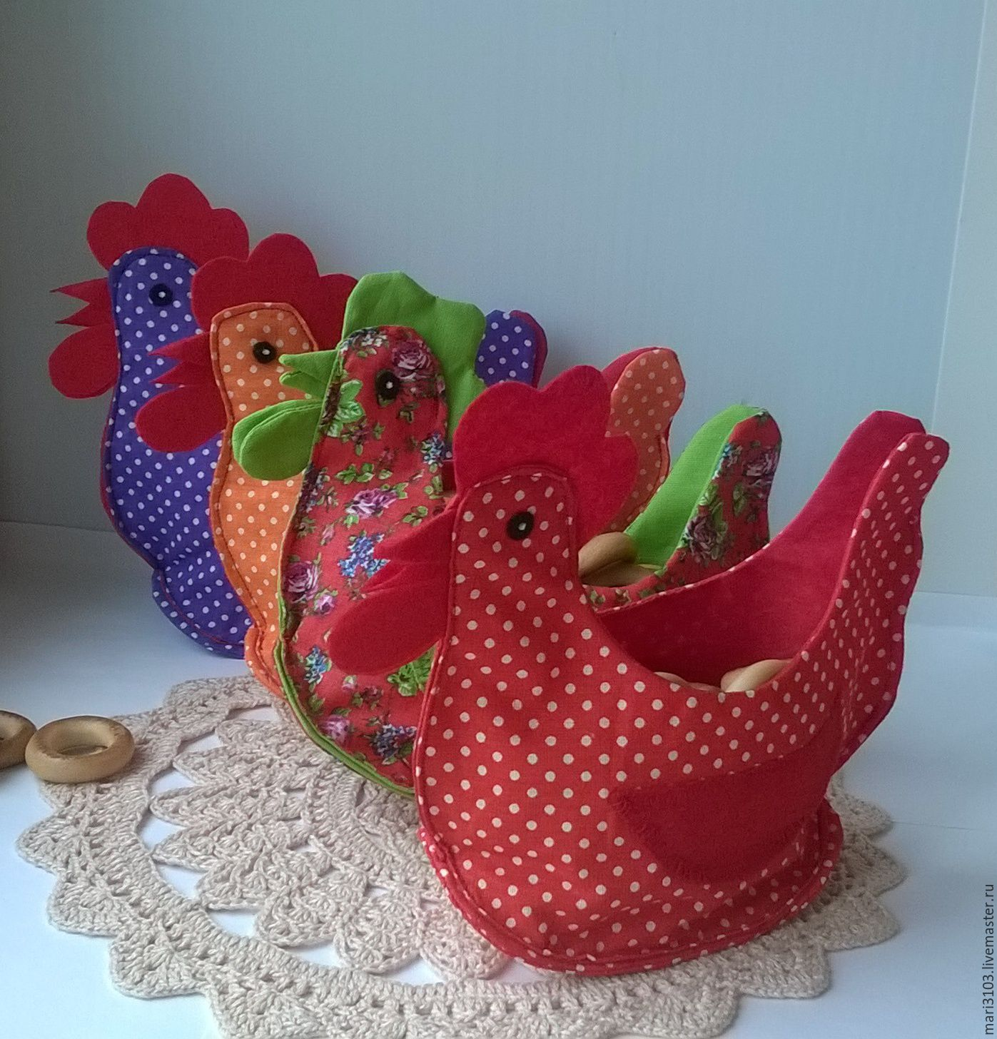 basket the hen textile, Jars, Vyazma,  Фото №1