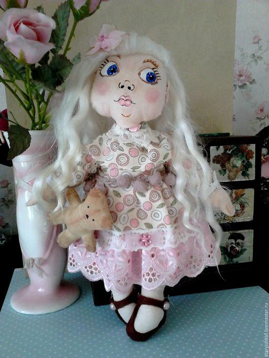 Коллекционные куклы ручной работы. Ярмарка Мастеров - ручная работа. Купить Кукла текстильная Розочка. Handmade. Розовый, батист