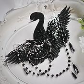 Украшения handmade. Livemaster - original item Brooch bird-Black Swan. Handmade.
