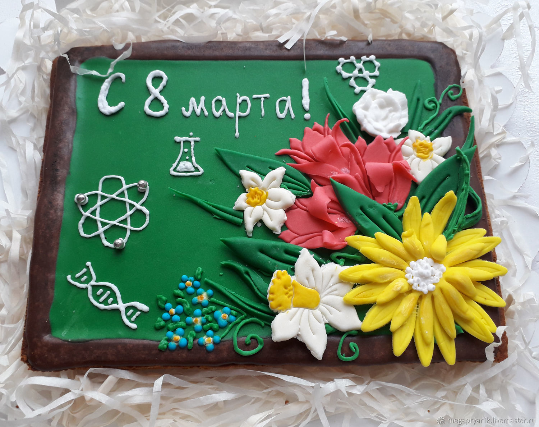 Пряник для учителя на 8 марта, Набор пряников, Москва,  Фото №1