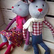 Куклы и игрушки ручной работы. Ярмарка Мастеров - ручная работа Модные зайцы. Handmade.