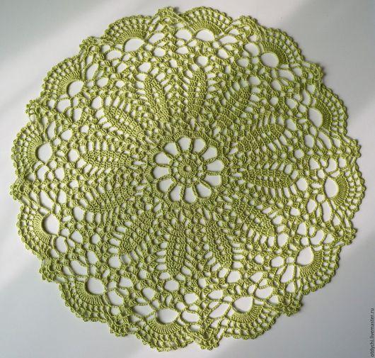 Текстиль, ковры ручной работы. Ярмарка Мастеров - ручная работа. Купить СВЕЖЕСТЬ салфетка декоративная. Handmade. Салатовый, красивая салфетка