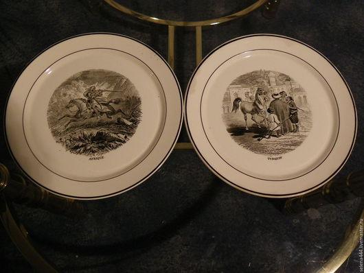 Винтажная посуда. Ярмарка Мастеров - ручная работа. Купить Охотничьи панно  Villeroy & Boch. Handmade. Немецкий винтаж